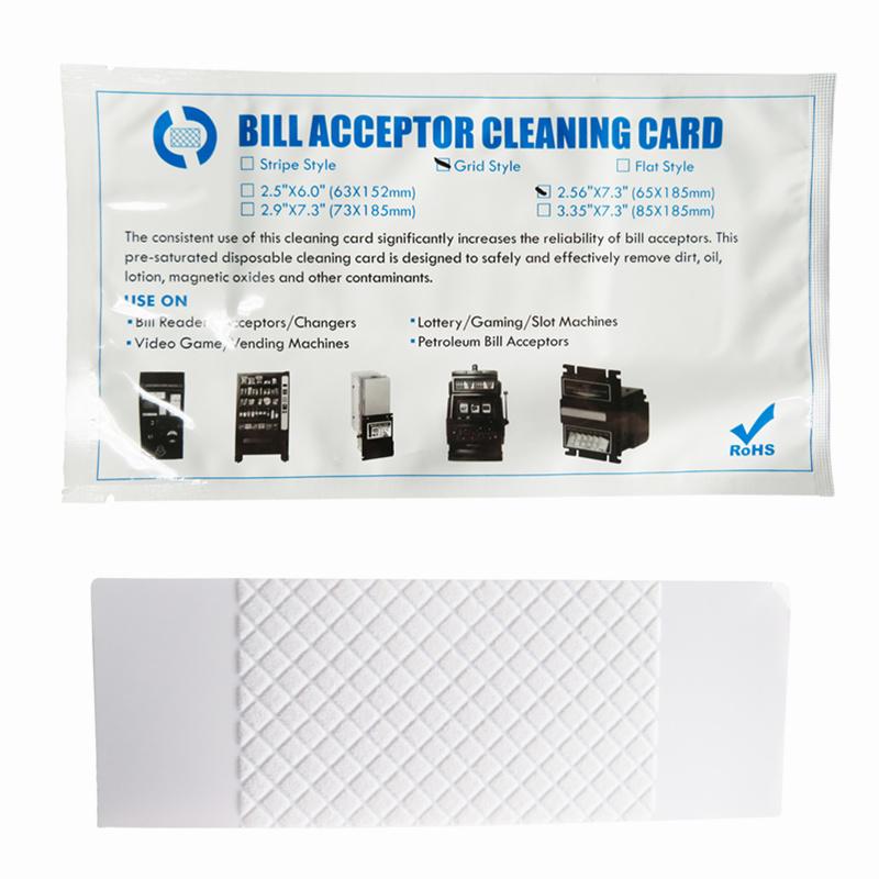 Bill Validator Grid Style Series Flocked Cleaning Card