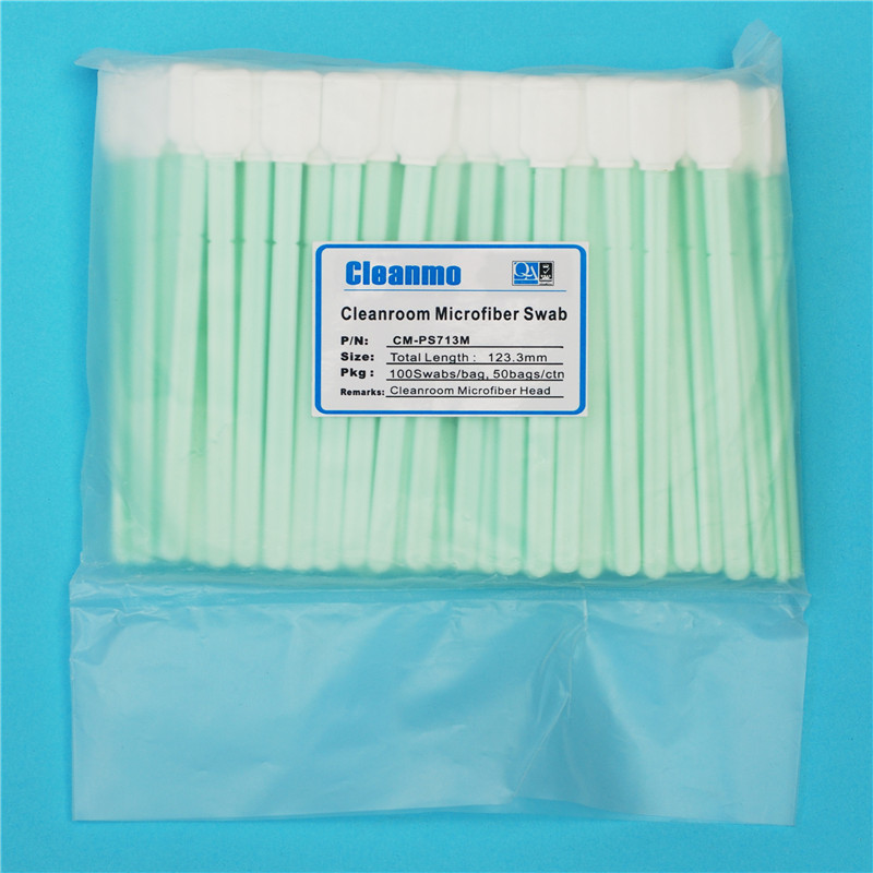 optic cleaning swabs tx758 cmps766m microfiber Cleanmo Brand Disposable Microfiber Swabs
