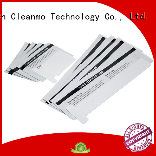 polyester series cleaning zebra printer cleaning cards Cleanmo Brand
